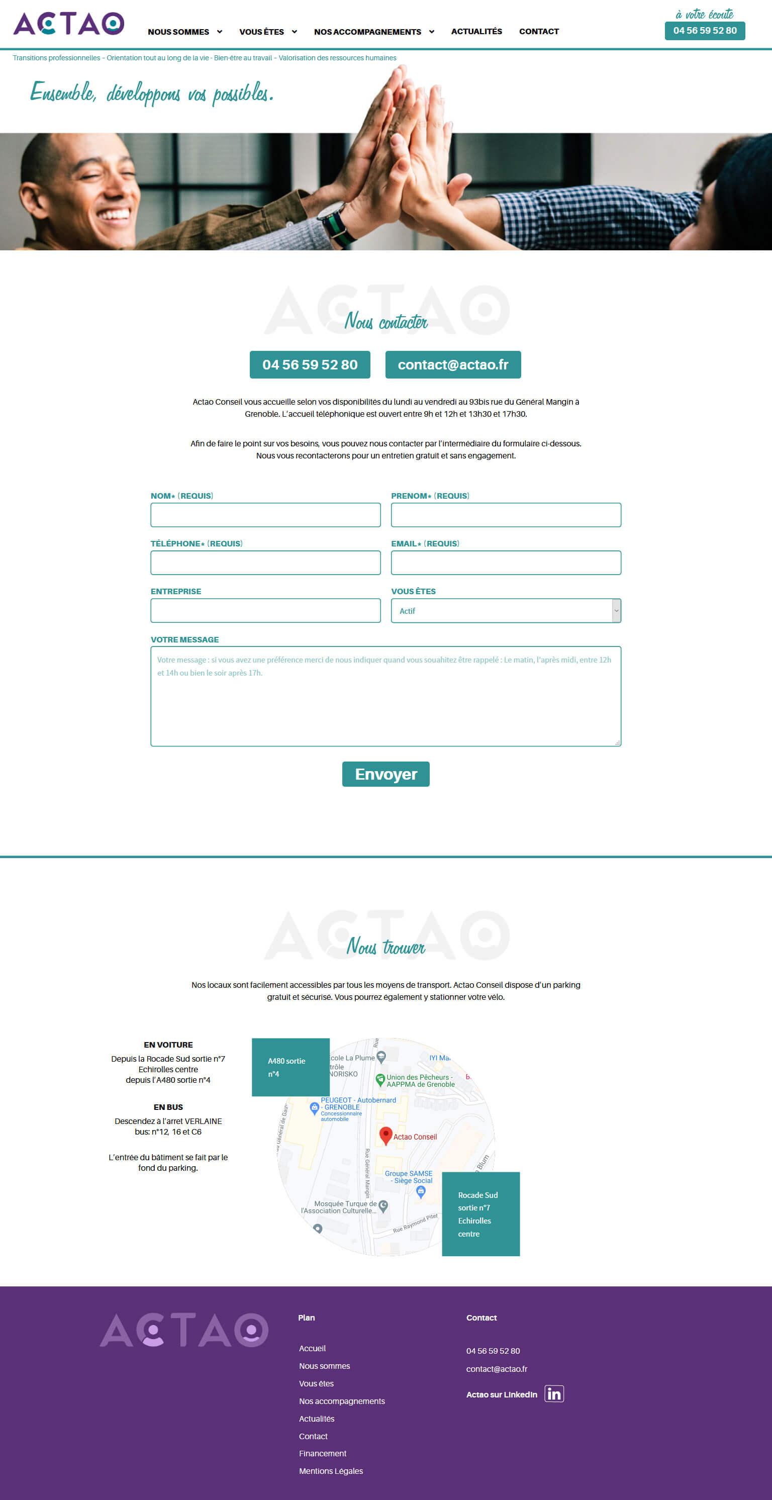 Création site Wordpress Lyon - Back Studio